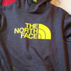 Lime green north face hoodie size small
